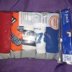 5 pack NEW boys boxer briefs size L (10/12).
